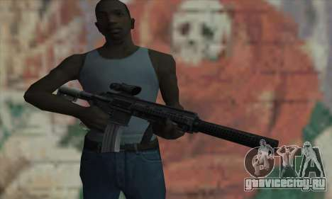 M416 with ACOG sight and silenced для GTA San Andreas третий скриншот
