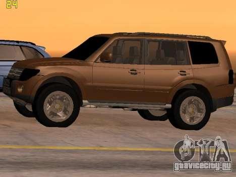 Mitsubishi Pajero 2010 для GTA San Andreas вид слева
