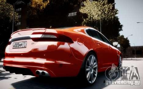 Jaguar XF-R 2012 v1.1 для GTA 4 вид справа