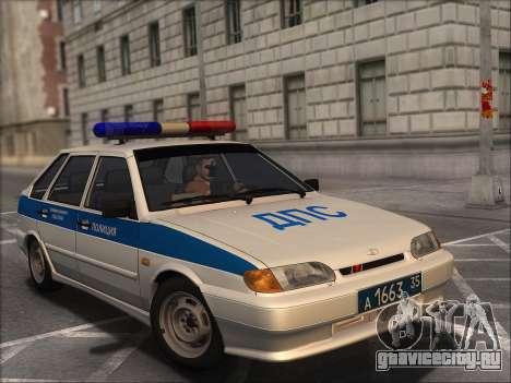 ВАЗ 2114 Полиция ДПС для GTA San Andreas вид сзади