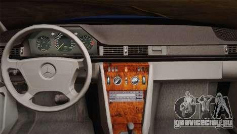 Mercedes-Benz E320 W124 для GTA San Andreas вид изнутри