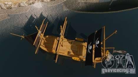 Пиратский корабль для GTA 4 вид справа
