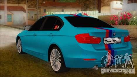 BMW 328d 2014 для GTA San Andreas вид слева