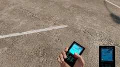 Тема для телефона Aqua Blue v2.0