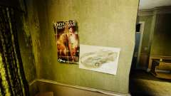 Новые постеры в квартире Романа