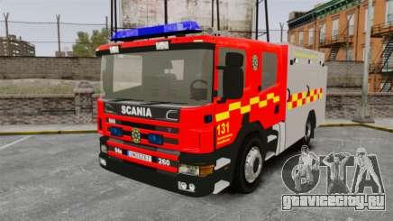 Scania 94D 260 BAS1 Stockholm Fire Brigade [ELS] для GTA 4