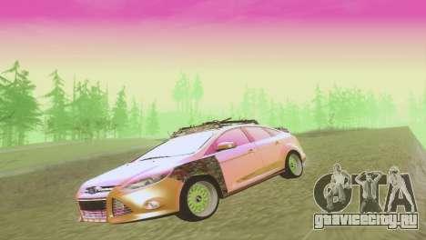 Ford Focus Sedan Hellaflush для GTA San Andreas вид сбоку