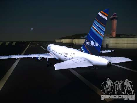 Airbus A320 JetBlue для GTA San Andreas вид сзади