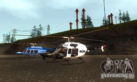 Bell 407 SAPD для GTA San Andreas вид справа