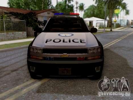 Chevrolet TrailBlazer Police для GTA San Andreas вид справа