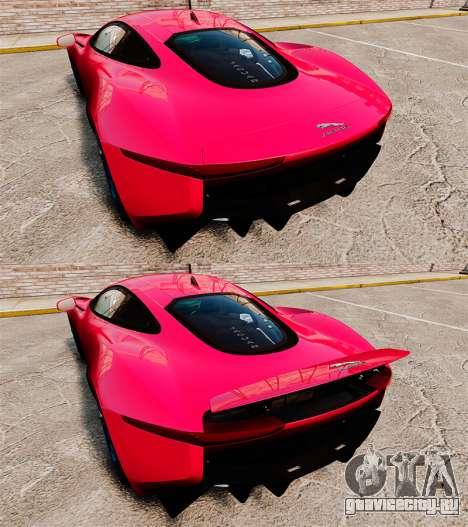 Jaguar C-X75 [EPM] для GTA 4 вид сверху