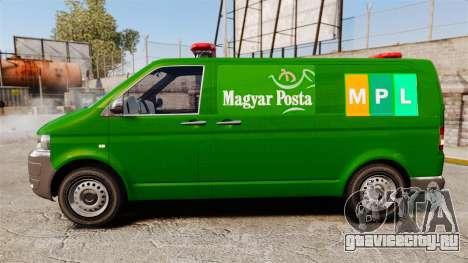 Volkswagen Transporter T5 Hungarian Post [ELS] для GTA 4 вид слева
