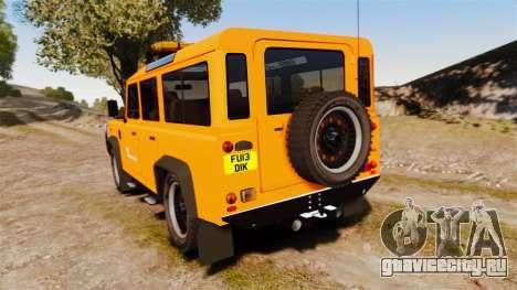 Land Rover Defender tecnovia [ELS] для GTA 4 вид сзади слева