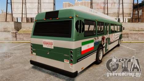 Иранский раскрас автобуса для GTA 4 вид сзади слева