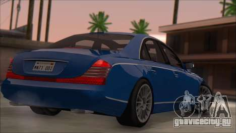 Maybach 57 TT Black Revel для GTA San Andreas вид слева