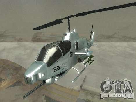 AH-1W Супер Кобра для GTA San Andreas вид изнутри