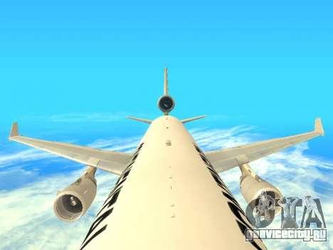 McDonnell Douglas MD-11 Continental Airlines для GTA San Andreas вид изнутри