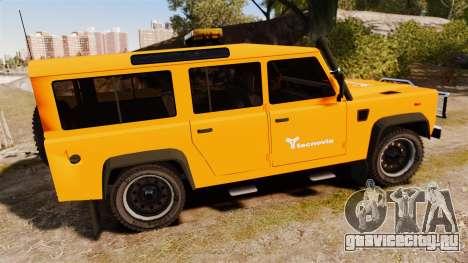 Land Rover Defender tecnovia [ELS] для GTA 4 вид слева
