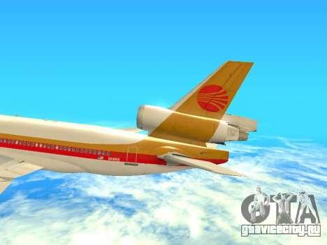 McDonnell Douglas MD-11 Continental Airlines для GTA San Andreas вид сбоку