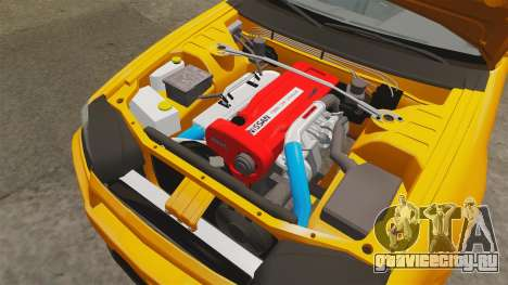 Nissan Skyline ER34 GT-R для GTA 4 вид изнутри