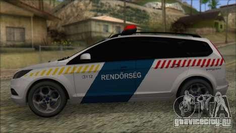 Ford Focus 2008 Station Wagon Hungary Police для GTA San Andreas вид слева