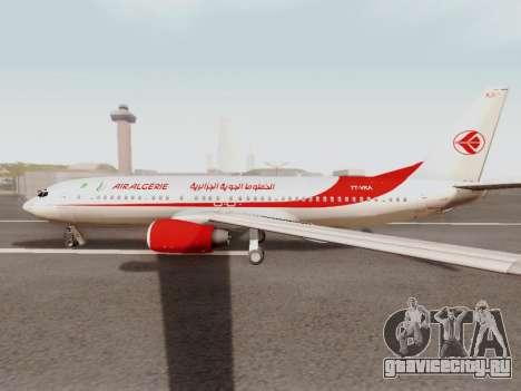 Boeing 737-800 Air Algerie для GTA San Andreas вид сзади слева