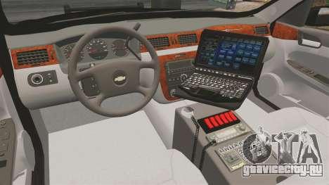 Chevrolet Impala 2008 LCPD [ELS] для GTA 4 вид сзади