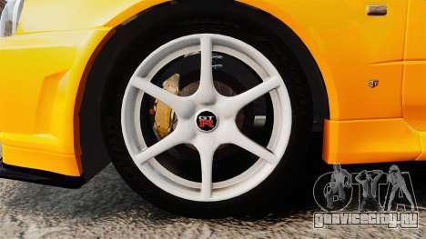 Nissan Skyline ER34 GT-R для GTA 4 вид сзади