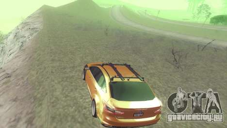Ford Focus Sedan Hellaflush для GTA San Andreas вид сзади