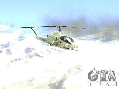 AH-1W Супер Кобра для GTA San Andreas вид сзади