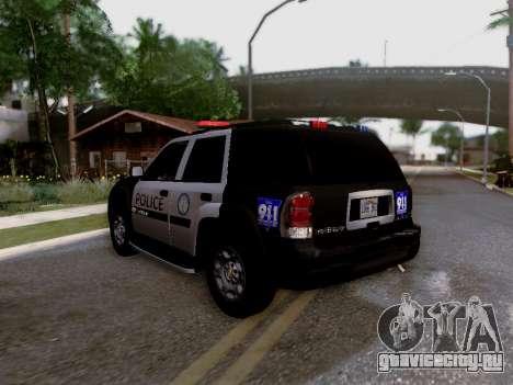 Chevrolet TrailBlazer Police для GTA San Andreas вид изнутри