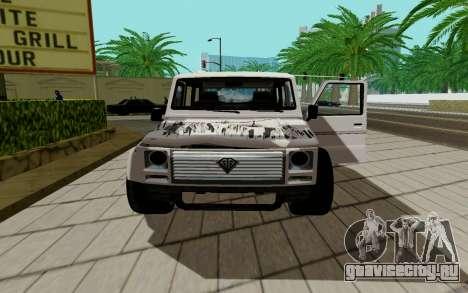 Benefactor DUBSTA для GTA San Andreas вид сзади слева