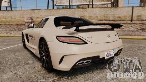Mercedes-Benz SLS 2014 AMG Driving Academy v1.0 для GTA 4 вид сзади слева