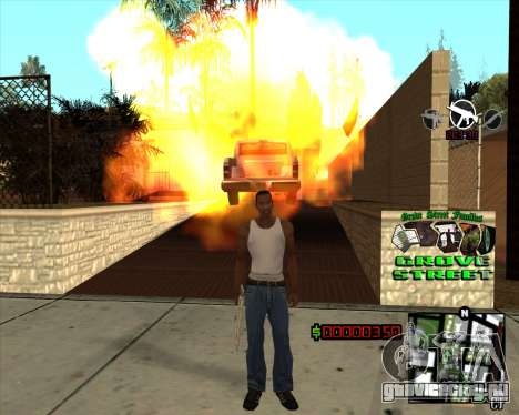 C-HUD West Side Grove Street для GTA San Andreas третий скриншот