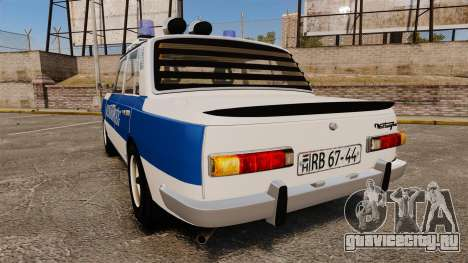 Wartburg 353w Deluxe Hungarian Police для GTA 4 вид сзади слева