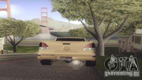 Mazda BT-50 Pro для GTA San Andreas вид сзади слева