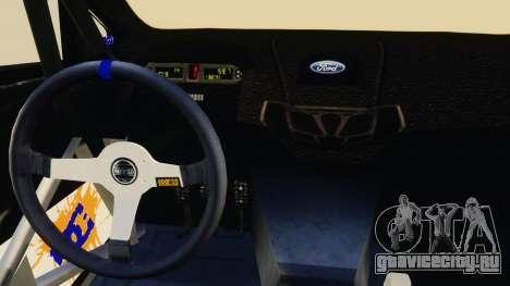 Ford Fiesta 2013 для GTA 4 вид изнутри