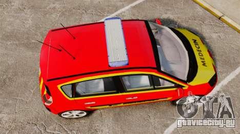 Renault Scenic Medicin v2.0 [ELS] для GTA 4 вид справа