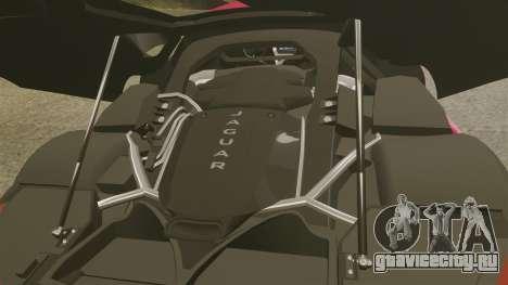 Jaguar C-X75 [EPM] для GTA 4 вид изнутри