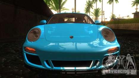 Porsche 911 Carrera GTS 2011 для GTA San Andreas вид изнутри