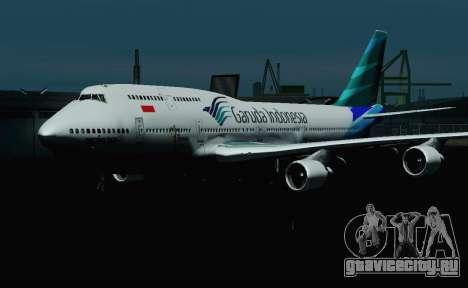 Boeing 747-400 Garuda Indonesia для GTA San Andreas вид изнутри