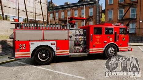 Fire Truck v1.4A LSFD [ELS] для GTA 4 вид слева