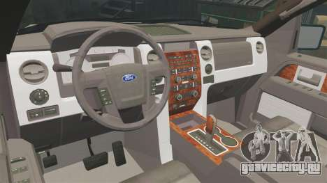Ford F-150 2010 Liberty City Service Truck [ELS] для GTA 4 вид изнутри
