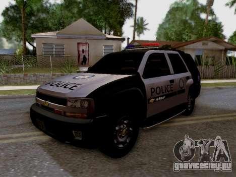 Chevrolet TrailBlazer Police для GTA San Andreas вид сзади