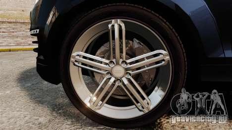 Audi Q7 Hungarian Police [ELS] для GTA 4 вид сзади