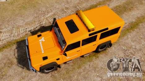 Land Rover Defender tecnovia [ELS] для GTA 4 вид справа