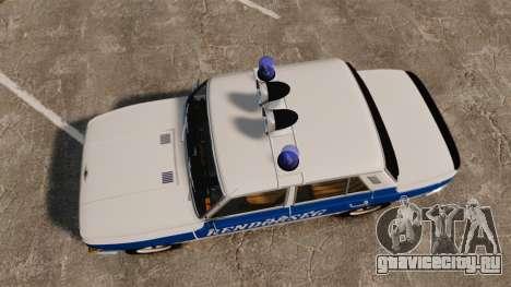 Wartburg 353w Deluxe Hungarian Police для GTA 4 вид справа