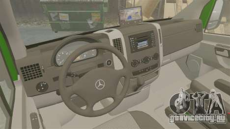 Mercedes-Benz Sprinter 2500 2011 Hungarian Post для GTA 4 вид изнутри