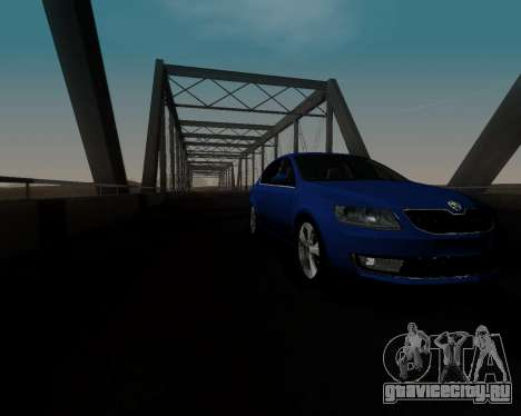 Skoda Octavia A7 для GTA San Andreas вид сбоку