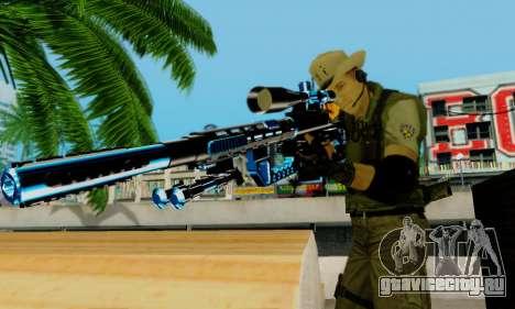 Resident Evil Apocalypse S.T.A.R.S. Sniper Skin для GTA San Andreas седьмой скриншот
